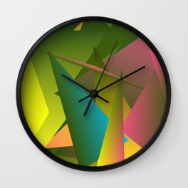 Dancing in the Garden Abstract 4 Wall Clock