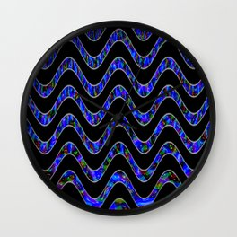 Waves of colors... Wall Clock