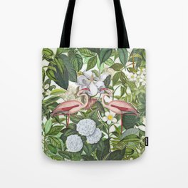 HAA-0267 In The Flamingo Garden Tote Bag