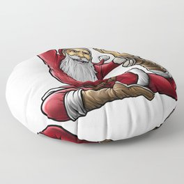 Yogi Santa Claus | Namaste Yoga Christmas Mantra Floor Pillow