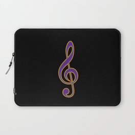 Rainbow G Clef Treble Clef Music Lover Musician Laptop Sleeve