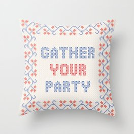 Gather Your Party Throw Pillow
