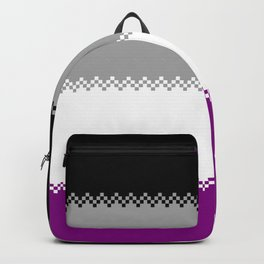 pixel pride- ace pride flag Backpack