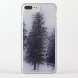 A Snowy Day Clear iPhone Case