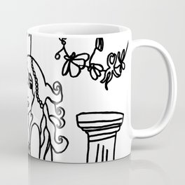 Jazette´s Pearls Black and White Drawing  Coffee Mug