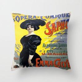 Vintage poster - Sapho Throw Pillow