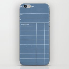 Library Card BSS 28 Negative Blue iPhone Skin