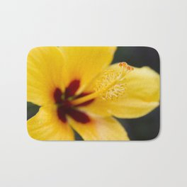 Boreas Tropical Hibiscus Lemon Drop Bath Mat