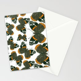 Red admiral butterfly  pattern Stationery Cards