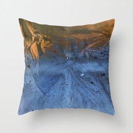 Ocean At Night Jean Copper Throw Pillow
