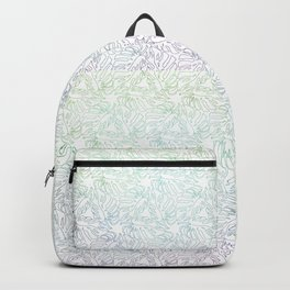 Ombre Monstera Leaves Backpack