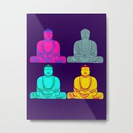 Daibutsu Buddha in Pop Art Metal Print