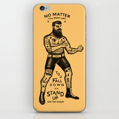 STAND UP AND TRY AGAIN iPhone & iPod Skin