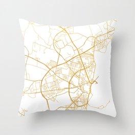 AARHUS DENMARK CITY STREET MAP ART Throw Pillow