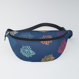 Watercolour Floral Snowflakes Pattern Fanny Pack