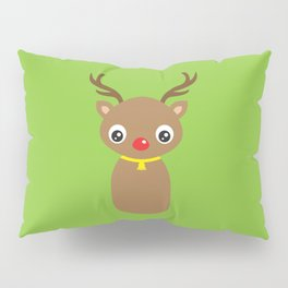 Red Nosed Reindeer Pillow Sham