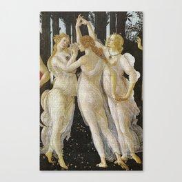 My Boticelli Serie :  Three Graces in Primavera Canvas Print