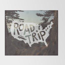Road Trip USA - big sur Throw Blanket