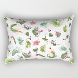 Air Plants White Background Rectangular Pillow