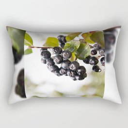 Chokeberries or aronia fruits Rectangular Pillow