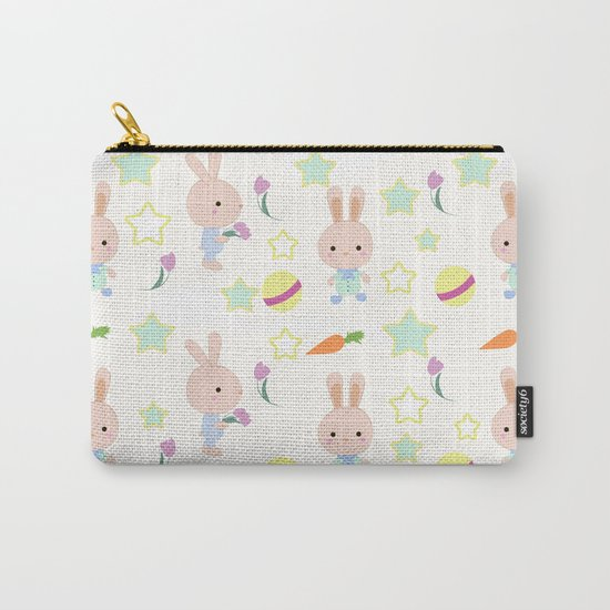 Funny bunnies, cute cartoon characters Carry-All Pouch