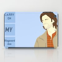 winchester iPad Cases featuring Sam Winchester by thefluidlines