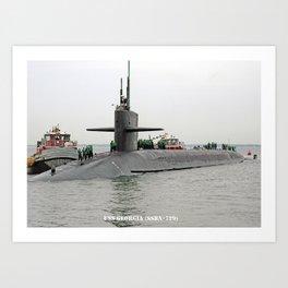 USS GEORGIA (SSBN-729) Art Print
