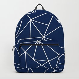 Triangle Geometric Art,  Navy Blue, Pieces Art Backpack