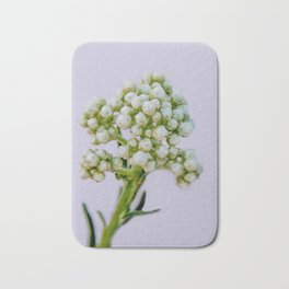 little white flowers Bath Mat