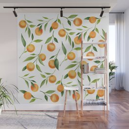Oranges Painting Wall Mural