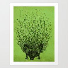 Thorny hedgehog Art Print