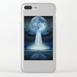 waterfall moon Clear iPhone Case