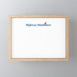 Highway Maintainer Ninja in Action Framed Mini Art Print