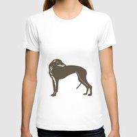 greyhound T-shirts featuring Greyhound Dog by ialbert