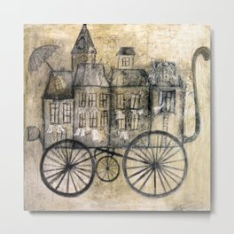 little town transport Metal Print