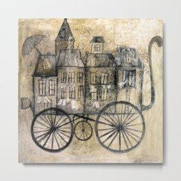 little town transport Metal Print