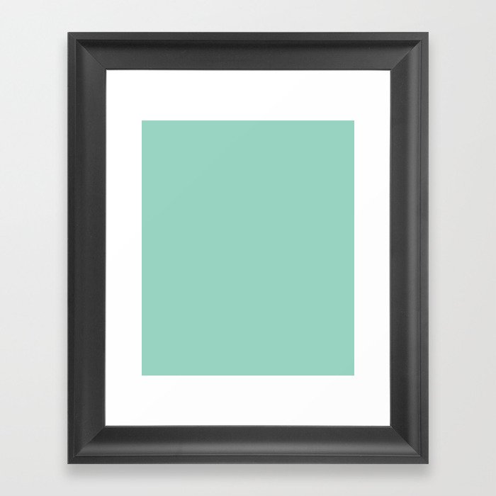 Monocolor Mint Green Gerahmter Kunstdruck