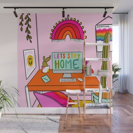 Stay Home Wall Mural