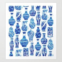Chinoiserie Vase Art Print
