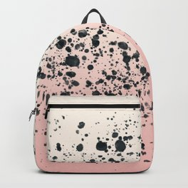 Cream, blush, black. Backpack
