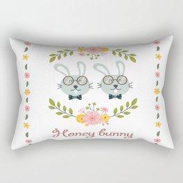 Honey bunny. Gay rabbits couple Rectangular Pillow