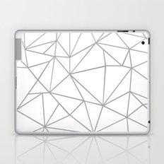Ab Outline 2 Grey on White Laptop & iPad Skin