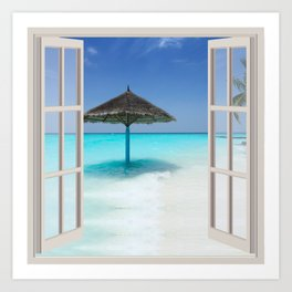 Idyllic Maldives | OPEN WINDOW ART Art Print