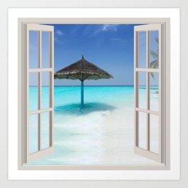 Idyllic Maldives   OPEN WINDOW ART Art Print
