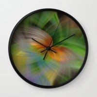 flight Wall Clocks featuring Flight by Deborah Janke