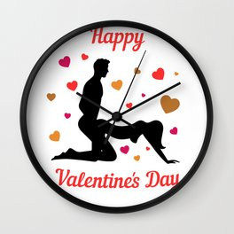 Happy Valentin's Day Sexy Hearts for enamoured 0425 Wall Clock