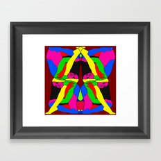Boxed Gymnast Framed Art Print
