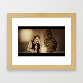 Han and Chewie Framed Art Print