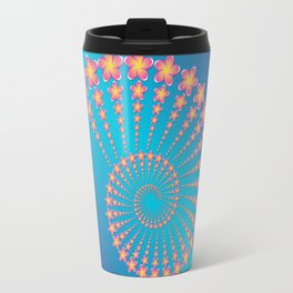 Denise's Frangipani Spiral Shell Travel Mug