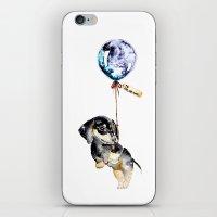 daschund iPhone & iPod Skins featuring Far, Far Away V by Brigitte May